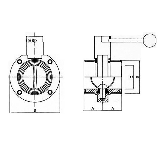 Stainless Steel Hygienic Butterfly Valves